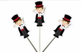 Magician Cupcake Toppers, Magic Party Cupcake Toppers, Magic Birthday Cupcake To - $11.99
