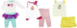 Carter's Baby & Toddler Girl's Outfits Mommy Loves Me, Cupcakes, Shorts Pants