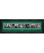 Personalized Michigan State University Campus Letter Art Framed Print - $39.95