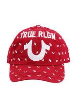 True Religion Men's All Over Monogram Pattern Cap Sport Strapback Baseball Hat image 3