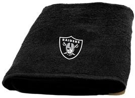 "Oakland Raiders Bath Towel dimensions are 25"" x 50"" - $17.95"