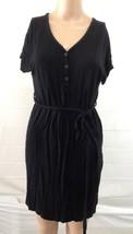 Old Navy sz S Black Shirt Dress Tie Back Short Sleeve Midi - $4.95
