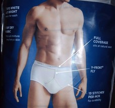 Jockey Classic 4 or 5 pack Lot Men's Y fly White Full-Rise briefs Underw... - $18.99