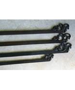 4 Hand carved Elegant Quilt or Textile Art Display Hangers Rod Rack Fini... - $104.49