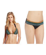 NWT NANETTE LEPORE S swimsuit bikini halter embroidered mayan brown 2 PC - $71.77