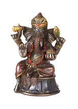Mini Hindu God Ganesha Cold Cast Bronze Figurine Ganesh Hindu Elephant G... - £8.43 GBP
