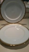 Lot of 2 Aynsley Elizabeth #7946 Dinner  plates 10 1/2 in.  scalloped rim - $49.49