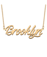 Brooklyn Name Necklace for Best Friends Family Girl Friend Birthday Gifts - $13.99+