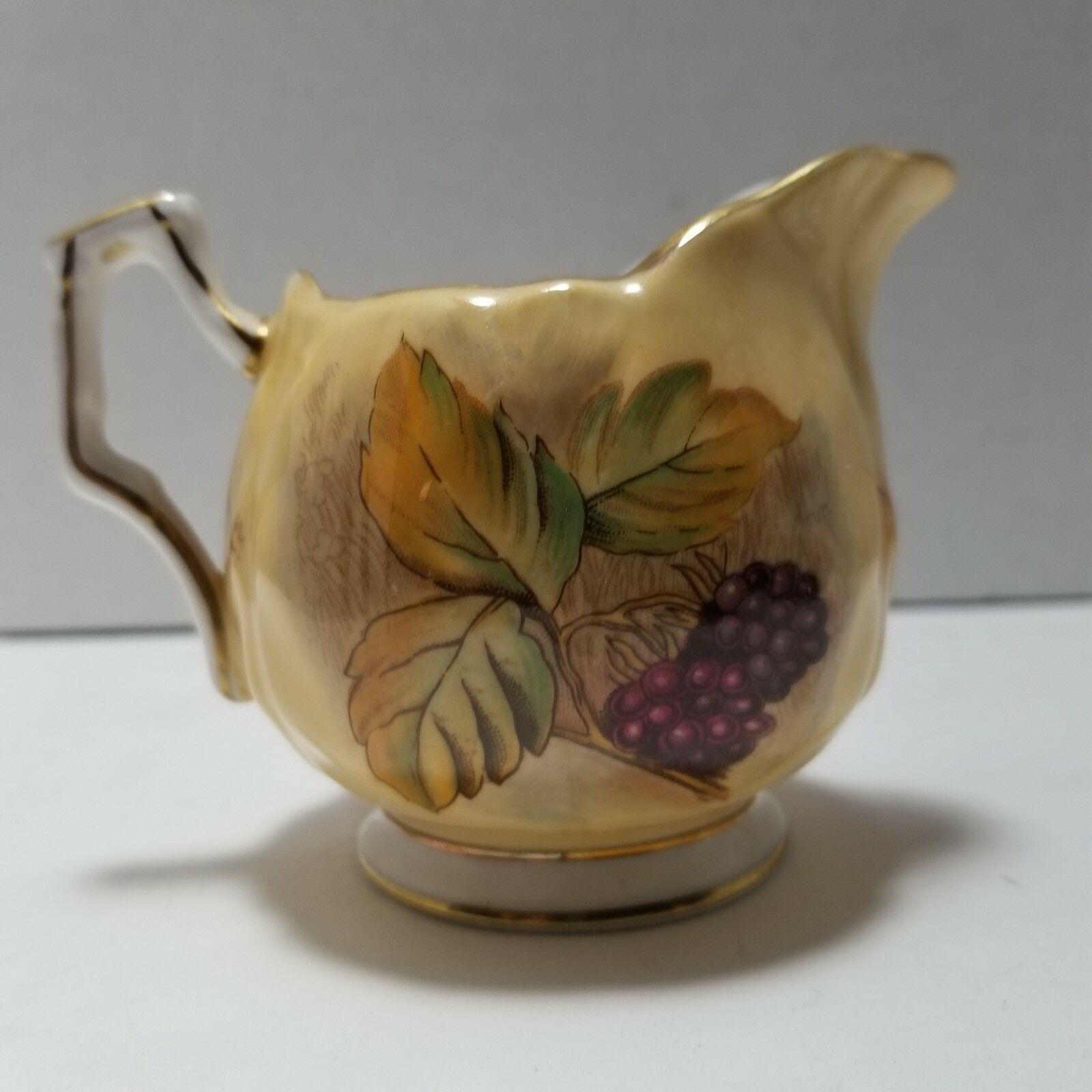 Aynsley Orchard Gold Mini Sugar Bowl and Creamer Set image 8