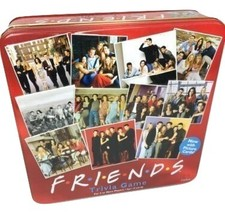 Friends TV Show 2003 Trivia Game with Picture Cards In Collectible Red Tin - $25.89