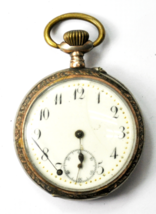 Antique Halbmond und Reichskrone Pocket Watch Galonne 800 Fine Case 45mm... - €51,31 EUR