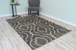 ROMA Shaggy Soft and Plush Contemporary Modern Shag Rug 5x8 5x7 99146 Taupe - $99.00