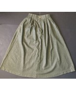 Vtg Orvis Skirt 8P Fits 2/4 Pleated Drab Green Classic Style Retro 50s 6... - $22.76