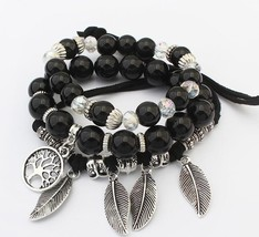 2019 European and American fashion trend wild retro leaves tassels beads... - $10.28