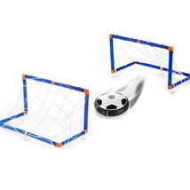 Hover Soccer Ball Extra Soccer Balls Air Soccer Disc with 2 Gates Foam B... - £18.27 GBP