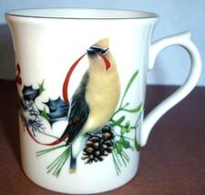 Lenox Winter Greetings Accent Mug Dark Eyed Junco With Cedar Waxwing Bird New - $29.90