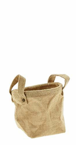 Decorative Burlap Sack Planter with Liner 5""