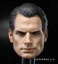 Custom 1/6 Scale Henry Cavill Batman v Superman 2 Head Sculpt For Hot Toys Body  - $46.00