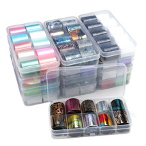 Holographic Nail Art Stickers Transfer Foil Sticker Adhesive Decal 10Rolls/set - $4.79+