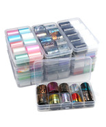 Holographic Nail Art Stickers Transfer Foil Sticker Adhesive Decal 10Rol... - $4.79+