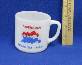 Vintage Federal Milk Glass Coffee Cup Mug American Freedom Train Patriot... - $13.85