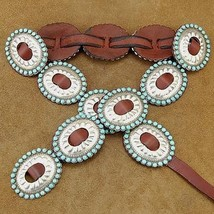 Navajo Sleeping Beauty Turquoise First Phase Style CONCHO BELT by Joey M... - $3,350.00
