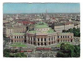 Austria Wien Vienna Burgtheater Birds Eye View Vntg 1968 Postcard 4X6 - $3.99