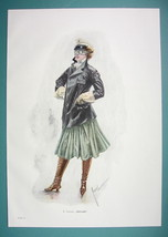 YOUNG LADY Masked Ball Poses as Automaton Car Driver - COLOR VICTORIAN E... - $12.15