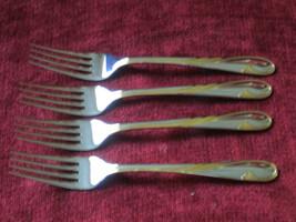 Gorham Golden Swirl Set of 4 Dinner forks Japan  - $59.39
