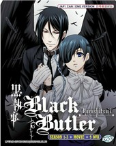 Black Butler Kuroshitsuji DVD Complete Series Season 1-3 +Movie +9 OVA English