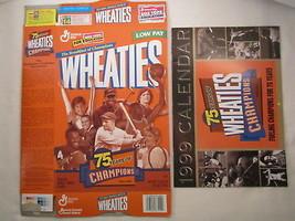 MT WHEATIES Cereal Box & Calendar 1998 18oz 75 YEARS OF CHAMPIONS [G7E1b] - $10.83