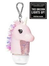 Bath & Body Works Unicorn Pocket *Bac Holder Pink Glitter Light Up Tinsel Clip - $15.50
