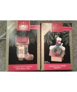 Hallmark Peanuts 2 in series peanuts Snoopy & chris mouse Magic Light Or... - $25.86
