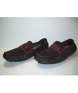 14th & Union Men's 'Santa Cruz' Brown Coffee Red Moccasin Loafer Suede S... - $49.47