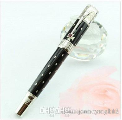 Hot sale High Quality Luxury Queen silver/gold clip Roller Pen with Free Velvet