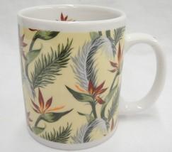 Retro Bird of Paradise Flower Hawaiian Mug Yellow Maui Pacific Traders #... - $21.03