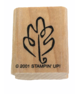 Stampin Up Rubber Stamp Leaf Outline Small Fall Card Making Craft Autumn Season - $3.00