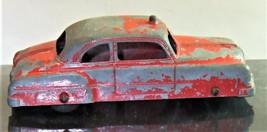 Vintage TOOTSIETOY 1950 PONTIAC CHIEFTAIN FIRE CHIEF CAR Rare! - $14.50