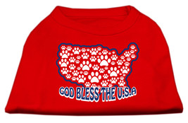 God Bless USA Screen Print Shirts Red L (14) - $11.98
