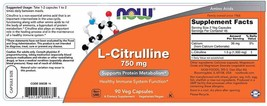 Now Supplements, L-Citrulline 750 mg, Supports Protein Metabolism*, Amino Acid - $61.57