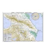 CIA Map Caucasus Region; Georgia, Turkey, Armenia, Azerbaijan; 1994 - $26.72+