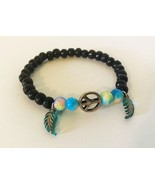 Peace Sign and Feather Stretch Bracelet. Help Support Wounded Warrior  - $4.55+