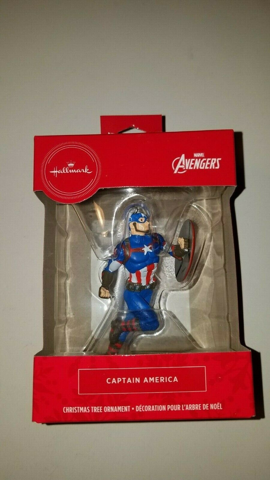 Primary image for Hallmark ornament marvel avengers captain america new in box stocking stuffer