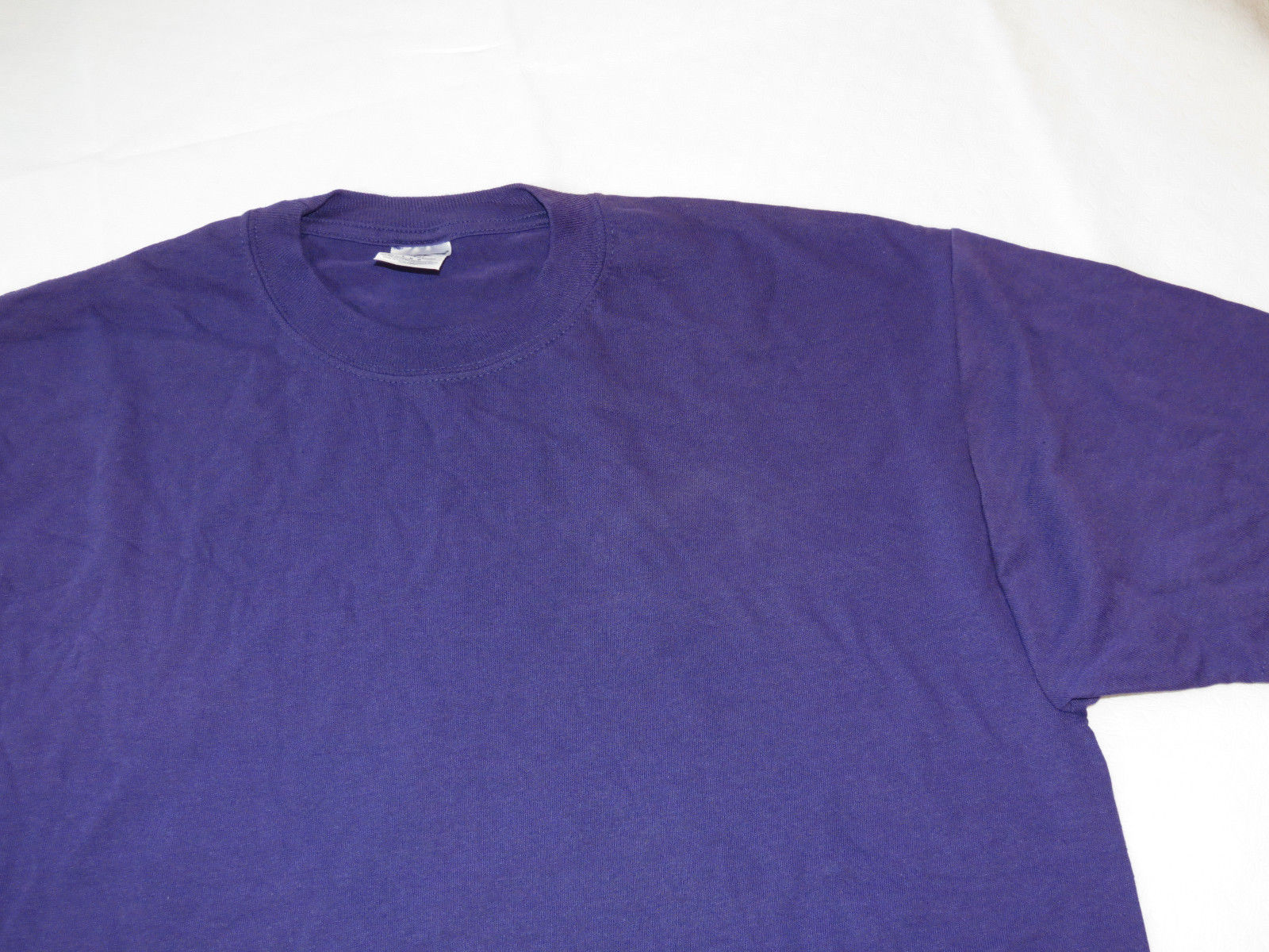 Jerzees Heavyweight Blend adult L large lg mens short sleeve shirt Purple NOS