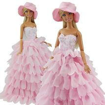 New Evening Party Princess Clothes Dress Outfit Set for Barbie Doll with... - $8.99