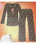 Womens Disney Minnie Mouse Pajama Set Size Large Red Hearts - $22.00