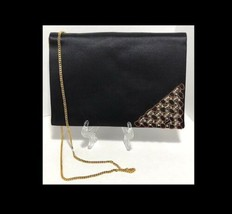 Rene Caovilla Bag Satin Evening Purse Chain Strap Nordstrom 80s Fashion - $85.57