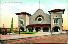 Vtg Postcard c. 1908 Southern Pacific Depot San Antonio, TX - Unused - $29.95