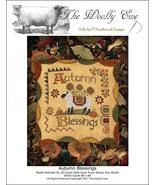 Autumn Blessings sheep autumn fall cross stitch chart The Wooley Ewe  - $8.00