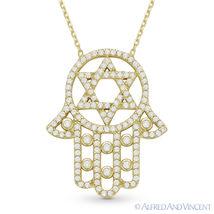 Magen Star of David Hamsa Hand of Fatima Jewish Pendant Sterling Silver Necklace image 4